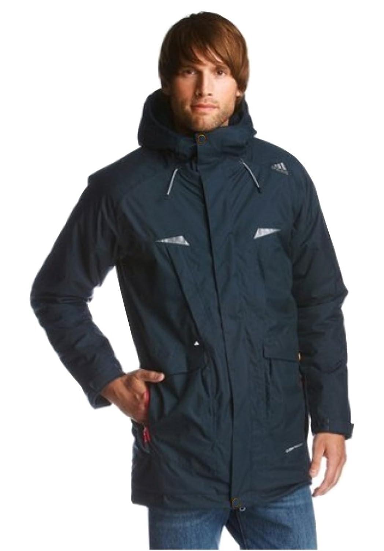 Adidas kapuzenjacke Herren parka winter jacke Wasserdicht Blau ClimaProof
