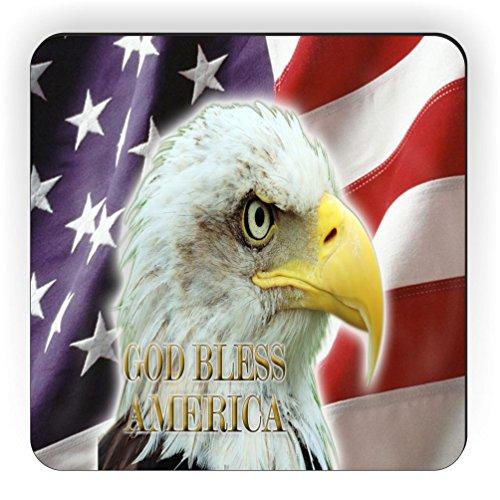 Rikki Knight American Flag Eagle Design Square Fridge Magnet (American Fridge Magnet compare prices)