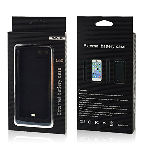 2200mAh Battery Battery Case Back Up Power Bank  for iPhone 5, 5S (Iphone Battery Case 5 compare prices)