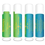 Zen Zinc 4-PACK Premium Organic Sunscreen Stick SPF 30+ Broad Spectrum Non-Nano Zinc Oxide - Best UV Protection - Safe for Children - 99% Certified Organic Ingredients - Double Guarantee - Made in USA