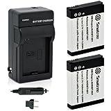 Smatree Batteries Charger Kit for Gopro Hero2 Digital Camera AHDBT-002 AHDBT-001