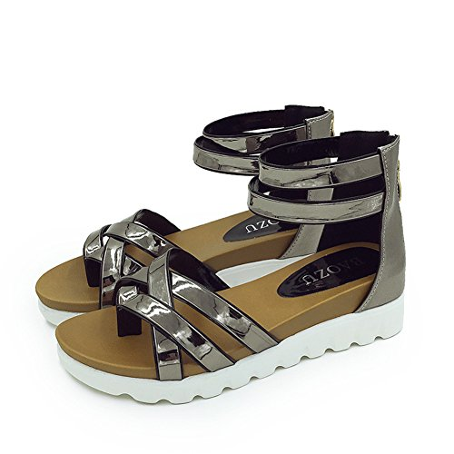 sandali estivi bassi con gli studenti/scarpe parola punta della clip/scarpe impermeabili all'interno della più alta-C Lunghezza piede=22.8CM(9Inch)