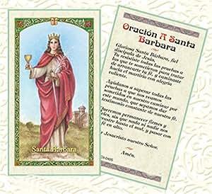 Amazon.com: Bendita Por Su Santidad Francisco Oracion Santa Barbara