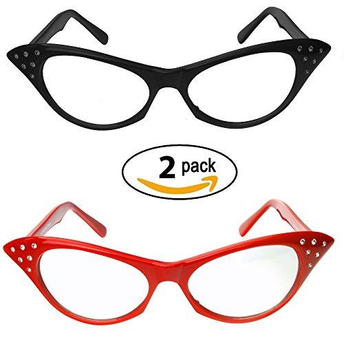 Red & Black Cat Eye Glasses