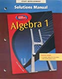 img - for Glencoe Mathematics Algebra 1 Solutions Manual book / textbook / text book