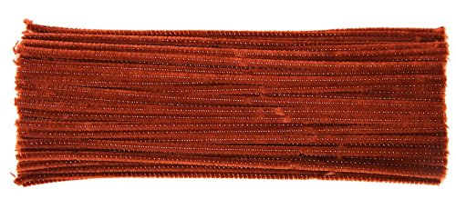 pack-of-100-brown-chenille-pipe-cleaners-ideal-for-rudolph-antlers-6mm