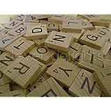 300 Scrabble Tiles - NEW Scrabble Letters - Wood Pieces - 3 Complete Sets - Great for Crafts, Pendants, Spelling by CashBasisEnterprises
