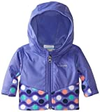 Columbia Baby-Girl Newborn Steens Mt Overlay Hoodie, Purple Lotus Wavy Dots 3/6 Color: Purple Lotus Wavy Dots/Purple Lotus Size: 3/6