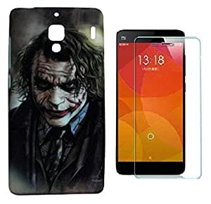 ZOOP Premium High Quality Rubberized Protective Printed Case Cover for Xiaomi Redmi 1S -The joker (Batman) With Tempered Glass