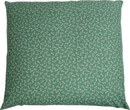 "J-Life Authentic Traditional Japanese Zabuton Floor Cushion - Tombo (Dragonfly) Teal - 21"" x 22"""