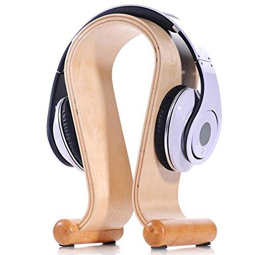 Dayjoy Luxury Wood Wooden Headphone Stand Holder Display Headset Hanger For All Stax Bose Sony Sennheiser Jvc Monster Beats Etc Headphones