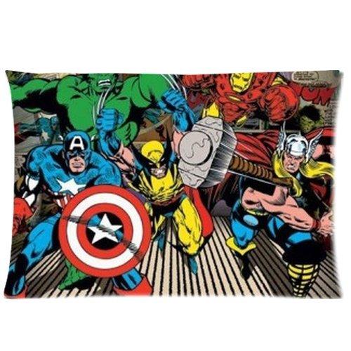 Generic Custom Cartoon Tv Series Captain America Cool Design Printed Zippered Pillowcase Cushion Case 20*30(Twin Sides) front-1000823