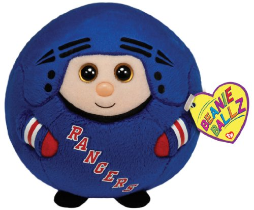Ty Beanie Ballz New York Rangers Plush, Nhl front-1010478