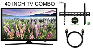 New Holiday Bundle -3-Pack - 1x- Samsung LED Smart TV 40-Inch Full HD 1080p Smart LED HDTV 1x- Slim Flat TV Wall Mount Bundle Includes & 1x- 6.5 Feet High-Speed HDMI 2.0 Cable
