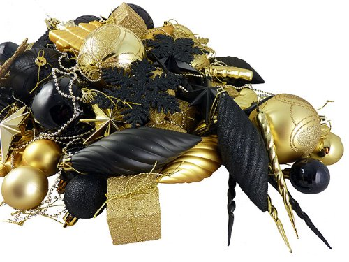Beautiful Black And Gold Christmas Ornaments XpressionPortal