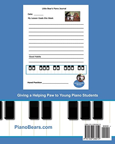 Piano Bears Musical Storybook Journal: Companion To Little Bear's Piano Goals: Volume 3