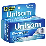 Unisom SleepGels Nighttime Sleep-Aid, 50 mg, SoftGels, Value Pack, 60 softgels