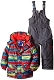 Rugged Bear Boys' Snowsuit with Striped Coat