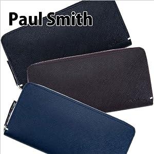 Paul Smith 長財布 ラウンドファスナー 革製 レザー 男性用 メンズ ブラック PSK869-71