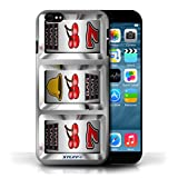 STUFF4 Phone Case Cover for Apple iPhone 6 Cherries Design Slot Machine Collection