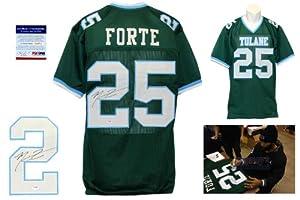 Buy Matt Forte Signed Green Jersey - PSA DNA - Tulane Green Wave Autograph