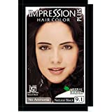 Impression Natural Black Hair Colour (15G) Combo Of 2 Boxes