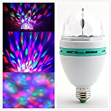 Denshine TM Mini RGB Full Color Rotating Crystal Ball LED Lamp Stage Light For Disco DJ Stage Party KTV Bars Club 3W with E27 Base