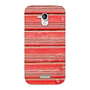Ajay Enterprises Ft Red Woodlock Prints Back Case Cover for Micromax Canvas HD A116