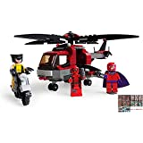 Wolverine with Helicopters Deadpool Maoneto Blicks Building Blocks Toy 201+pcs. With Sticker