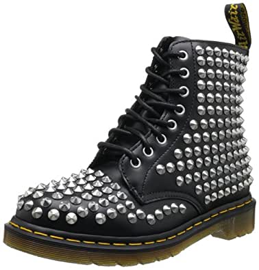 Dr martens womens spike smooth boots shoes for Amazon dr martens