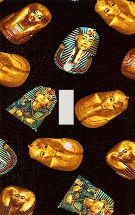 Egyptian Masks Collage Decorative Switchplate Cover