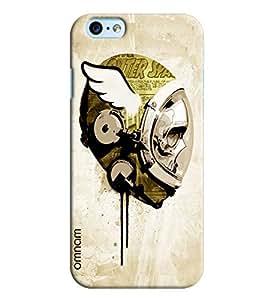 Omnam Skelton In Space Effect Printed Designer Back Cover Case For Apple iPhone 6 Plus