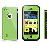 Pioneer Tech® Newest Waterproof Shockproof Dirt Snow Proof Durable Case Cover For Apple iPhone 5C (Green)