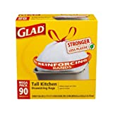 Glad Tall Kitchen Drawstring Trash Bags, 13 Gallon,