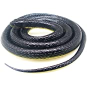 Realistic Rubber Scary Gag Gift Black Mamba Snake Toy 52 Inch Long