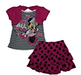 Disney Minnie Mouse Girls It's All About Minnie Skort Outfit