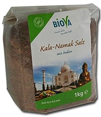 1 KG Kala Namak Schwarzsalz Black Salt - fein - in Premiumqualität von Biova ! von Biova - Gewürze Shop