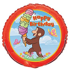 18'' Foil Curious George Balloon