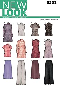 Look A 8-10-12-14-16-18 Sewing Pattern 6203 Misses Special Occasion Dresses from New Look