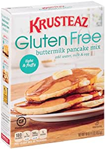 Amazon.com : Krusteaz Gluten Free Buttermilk Pancake Mix, 16-Ounce ...