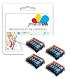 Premier Ink Cli-521/ Pgi-520 4 Sets (20) Compatible Ink Cartridges With Chips For Canon Pixma Mp540 Mp550 Mp560 Mp620 Mp630 Mp640 Mp980 Mp990 Ip3600 Ip4600 Ip4700 Mx860 Mx870 - Cli521 / Pgi520 -