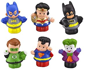 Fisher Price Little People DC Super Friends Figures ~ Set of 6