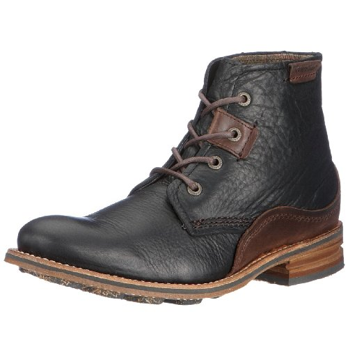 Cat Footwear Warren Black/Dark Brown Lace Up Boot P711799 9 UK