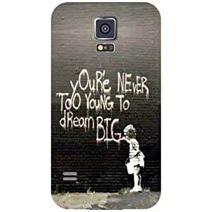 Samsung Galaxy S5 You Are Never Too Late Matte Finish Phone Cover - Matte Finish Phone Cover