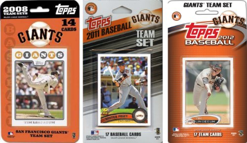 MLB San Francisco Giants 3 Different Licensed Trading Card Team Sets