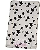 SUPER SOFT PADDED WATERPROOF BABY CHANGING MAT COW PRINT BLACK WHITE unisex