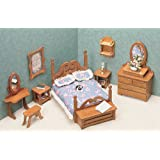 Greenleaf Dollhouse Furniture Kit for Bedroom