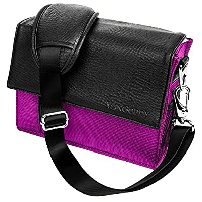 Metric Light Nylon Carrying Case [Purple] For Advanced SLR/DSLR Camera Systems with Lens