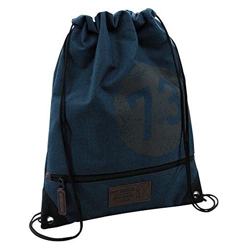 Pepe Jeans 6293851 Worn 73 Blue Zaino Casual, Poliestere, Blu, 44 cm