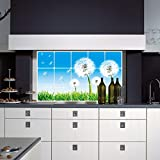 Aiwall 3004 High Temperature Stove Tile Aoil Anti Oil Dandelion Kitchen Stickers